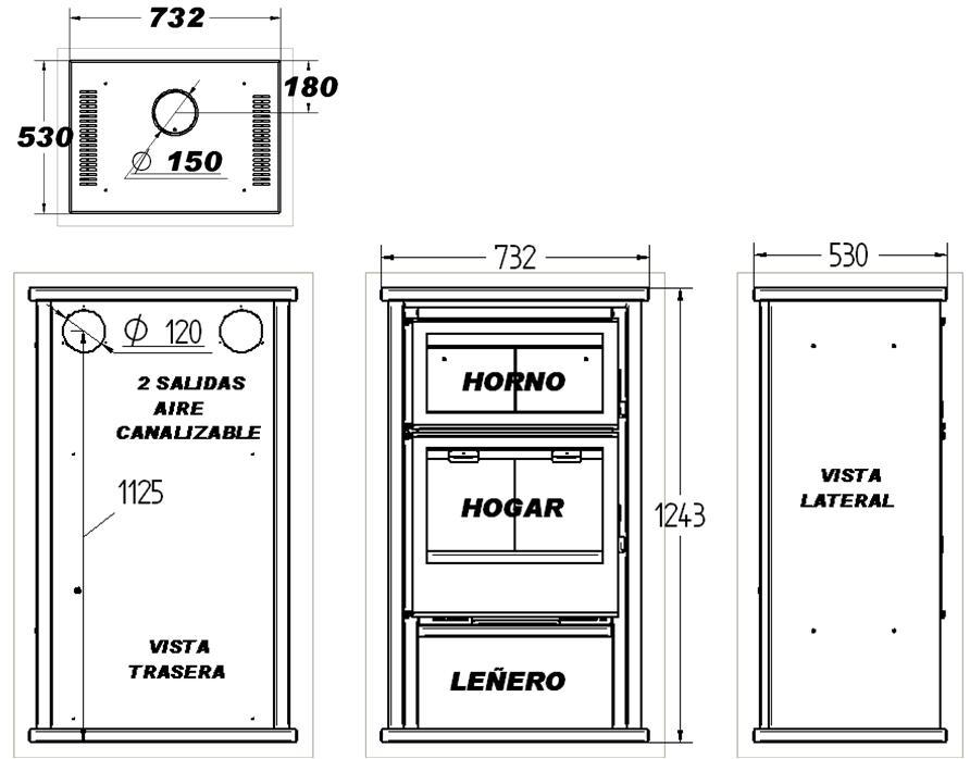 Mostrando art culos por etiqueta ofertas chimeneas for Medidas de hornos pequenos